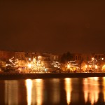 Allegan Riverfront Lit Up