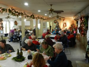 Lunch in the lodge at Camp Kidwell's Festival of Trees.