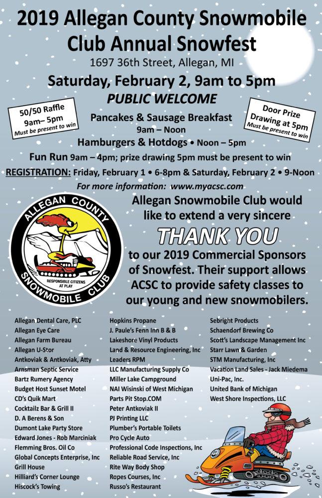 2019 ACSC Snowfest & Fun Run - Allegan Chamber