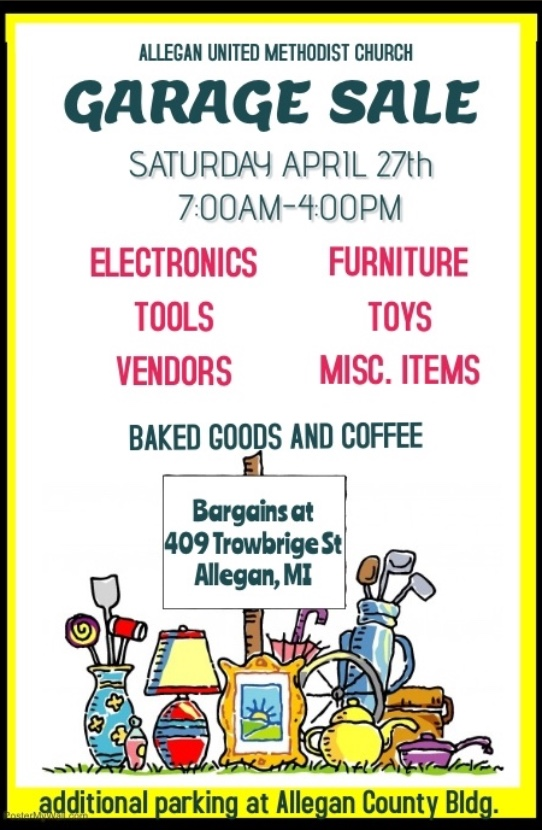 United Methodist Church Garage Sale - Allegan Chamber
